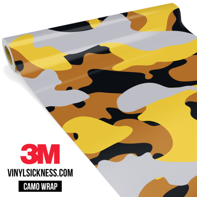 Mustard Steel Camo Large Vinyl Wrap Main