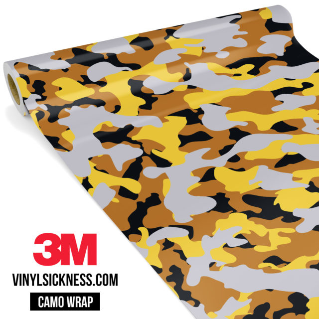 Mustard Steel Camo Regular Vinyl Wrap Main