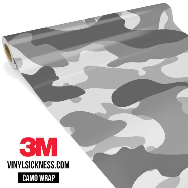 Pearl Grey Silver Camo Large Vinyl Wrap Main
