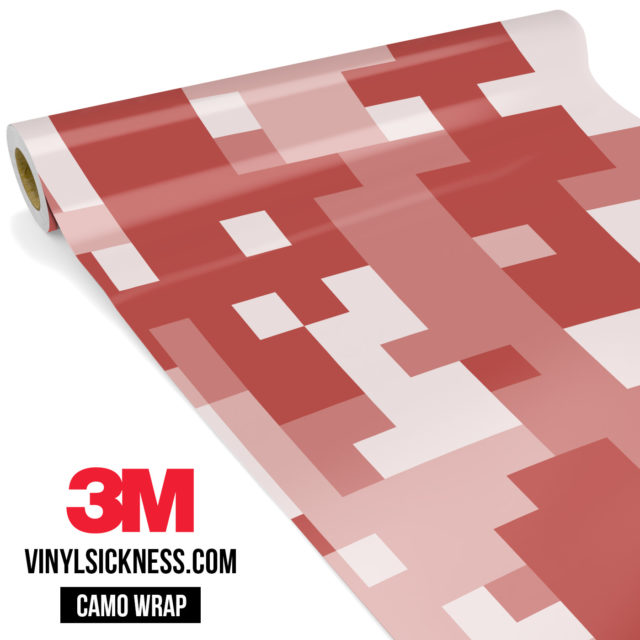 Red Wood Digital Camo Large Vinyl Wrap Main