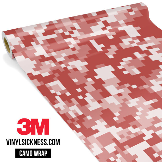 Red Wood Digital Camo Regular Vinyl Wrap Main