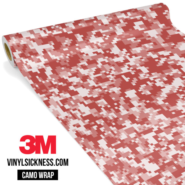 Red Wood Digital Camo Small Vinyl Wrap Main