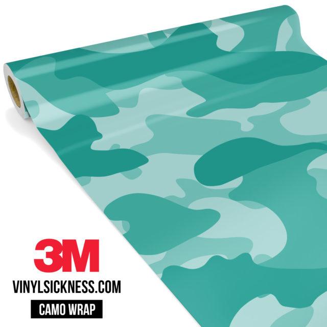 Sea Green Camo Large Vinyl Wrap Main