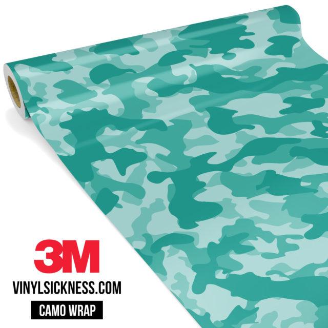 Sea Green Camo Regular Vinyl Wrap Main