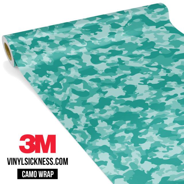Sea Green Camo Small Vinyl Wrap Main