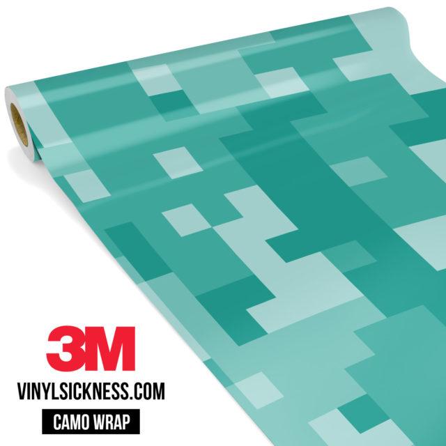 Sea Green Digital Camo Large Vinyl Wrap Main