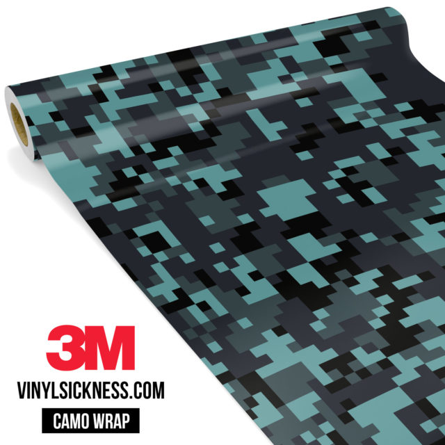 Sea Weed Digital Camo Regular Vinyl Wrap Main