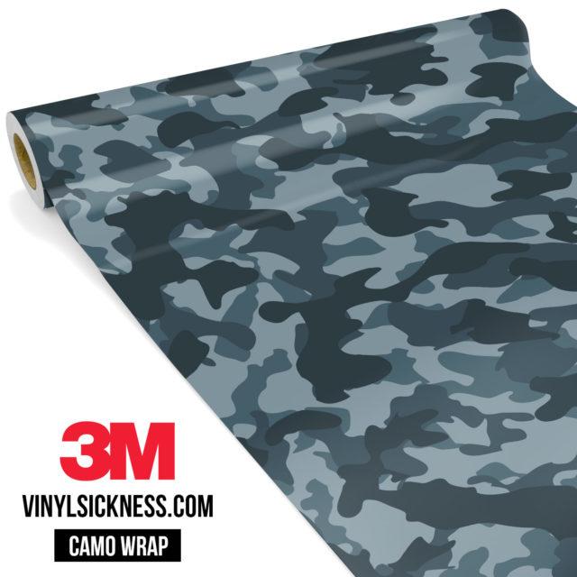 Slate Grey Camo Regular Vinyl Wrap Main