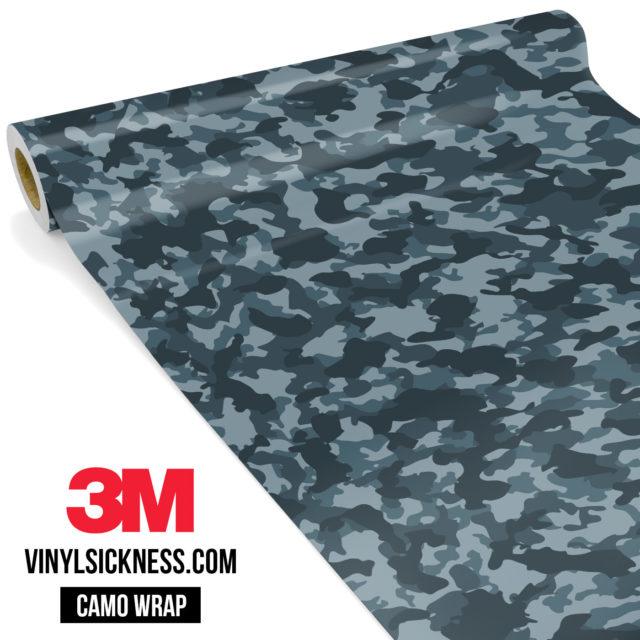Slate Grey Camo Small Vinyl Wrap Main