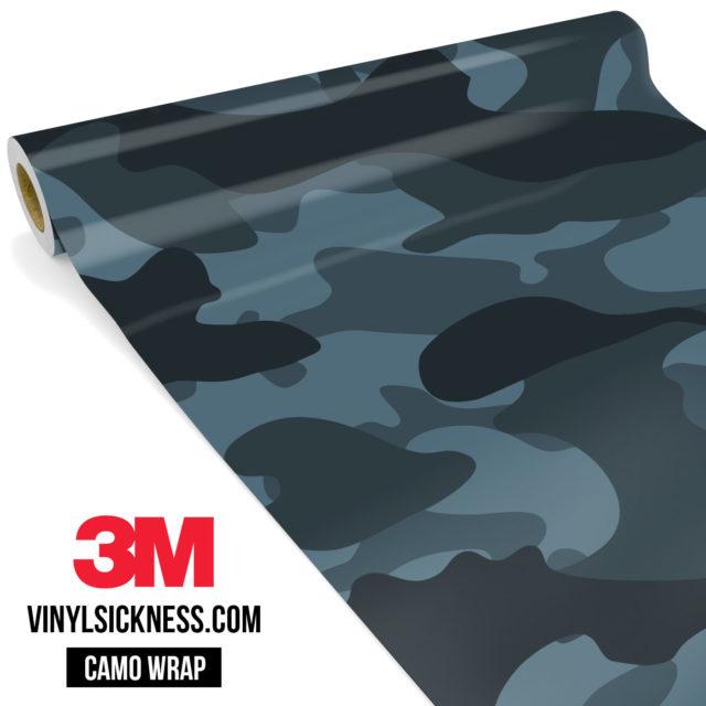 Spruce Cobalt Camo Large Vinyl Wrap Main