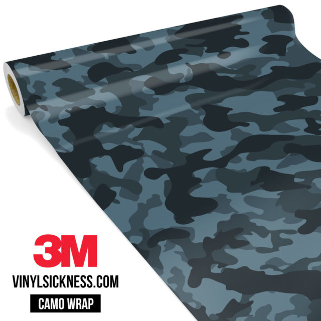 Spruce Cobalt Camo Regular Vinyl Wrap Main