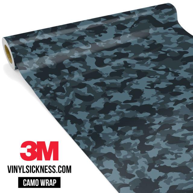 Spruce Cobalt Camo Small Vinyl Wrap Main
