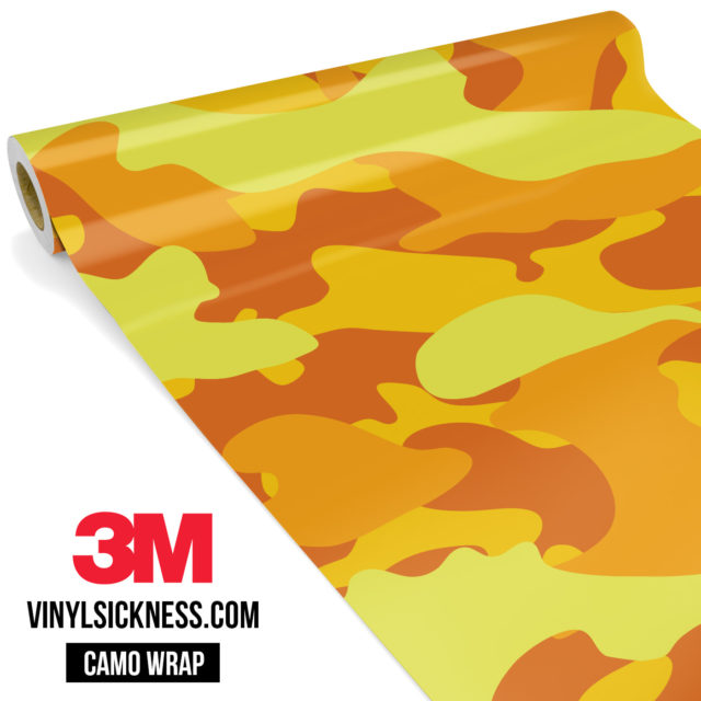 Sunshine Yellow Camo Large Vinyl Wrap Main