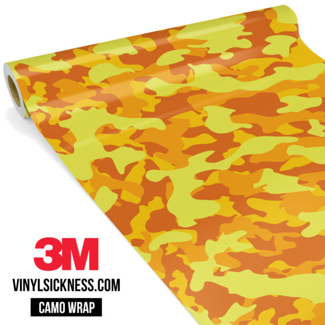 Sunshine Yellow Camo Regular Vinyl Wrap Main