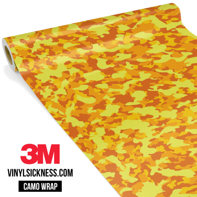 Sunshine Yellow Camo Small Vinyl Wrap Main