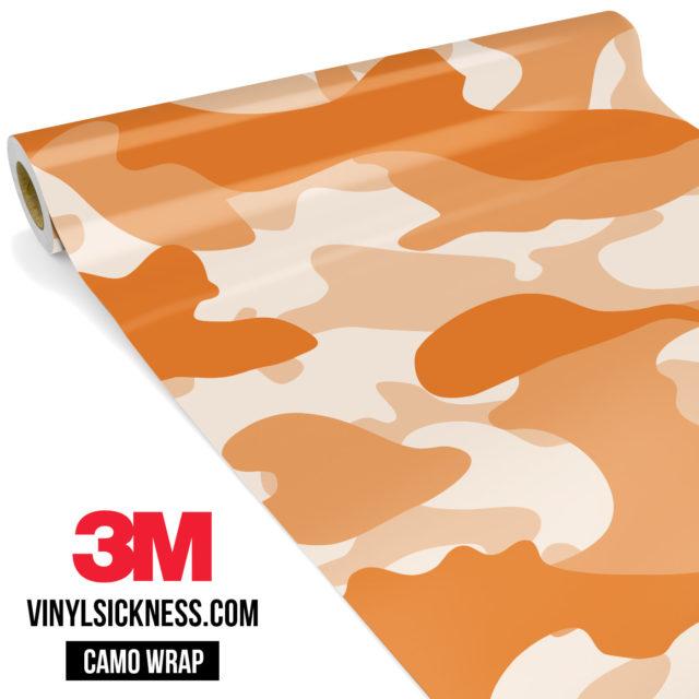 Tangerine Camo Large Vinyl Wrap Main