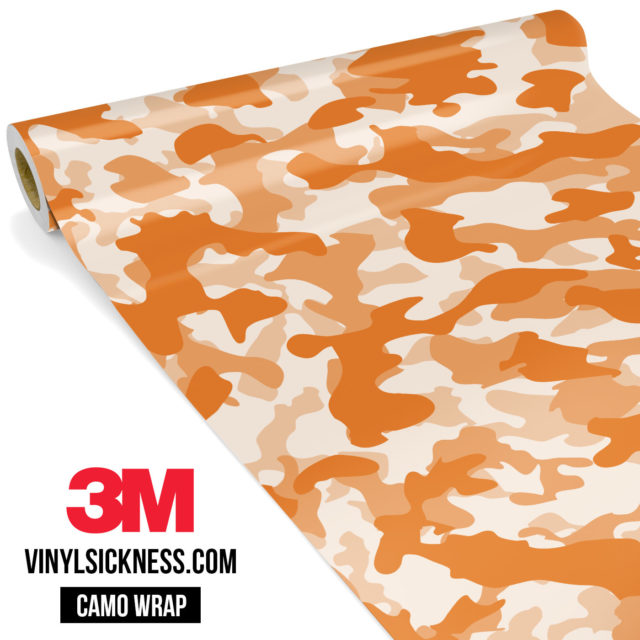 Tangerine Camo Regular Vinyl Wrap Main