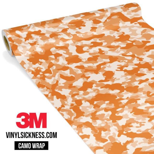 Tangerine Camo Small Vinyl Wrap Main