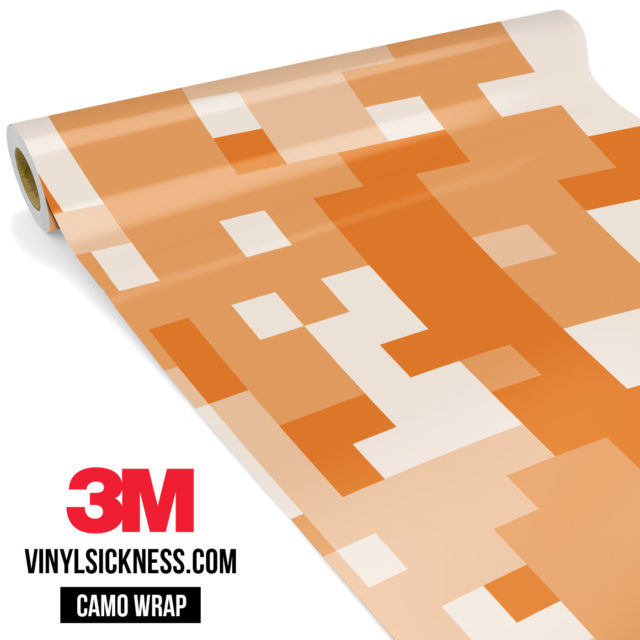 Tangerine Digital Camo Large Vinyl Wrap Main
