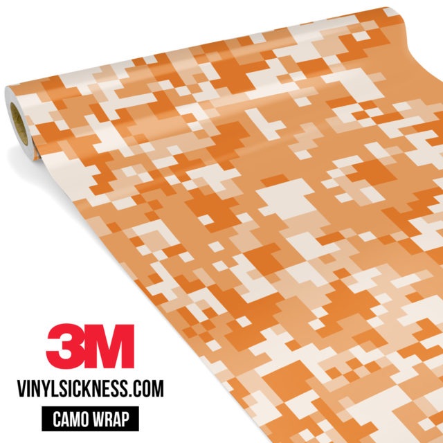 Tangerine Digital Camo Regular Vinyl Wrap Main