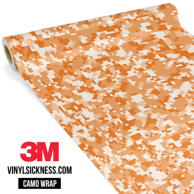 Tangerine Digital Camo Small Vinyl Wrap Main