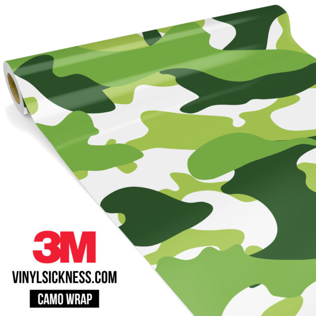 Tropical Green Camo Large Vinyl Wrap Main