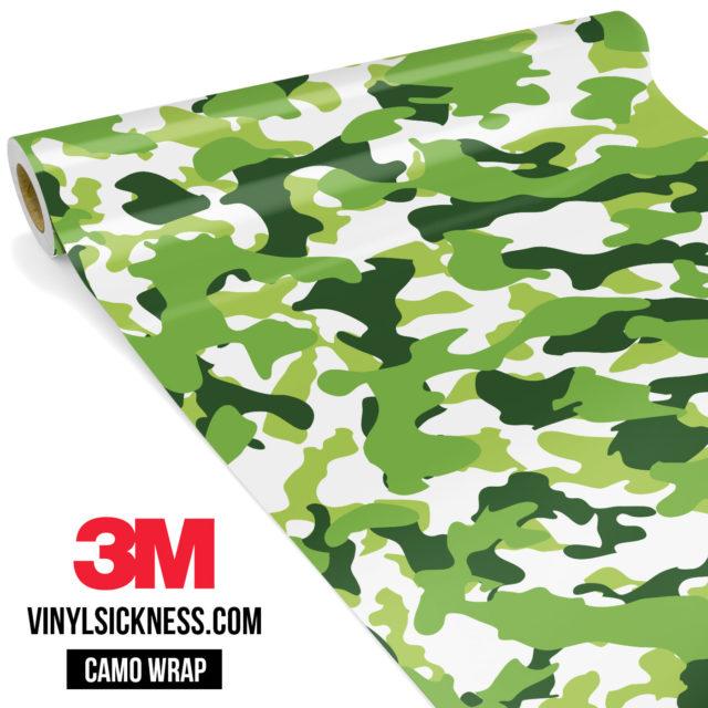 Tropical Green Camo Regular Vinyl Wrap Main