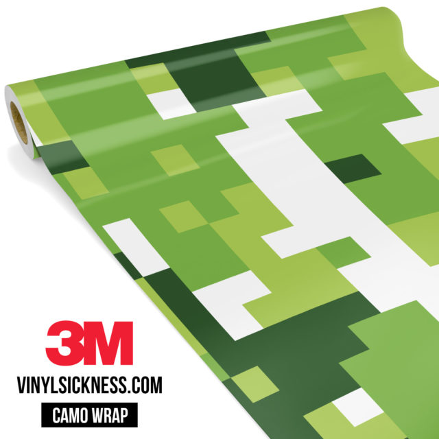 Tropical Green Digital Camo Large Vinyl Wrap Main