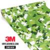 Tropical Green Digital Camo Regular Vinyl Wrap Main