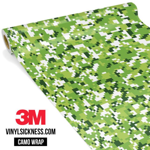 Tropical Green Digital Camo Small Vinyl Wrap Main