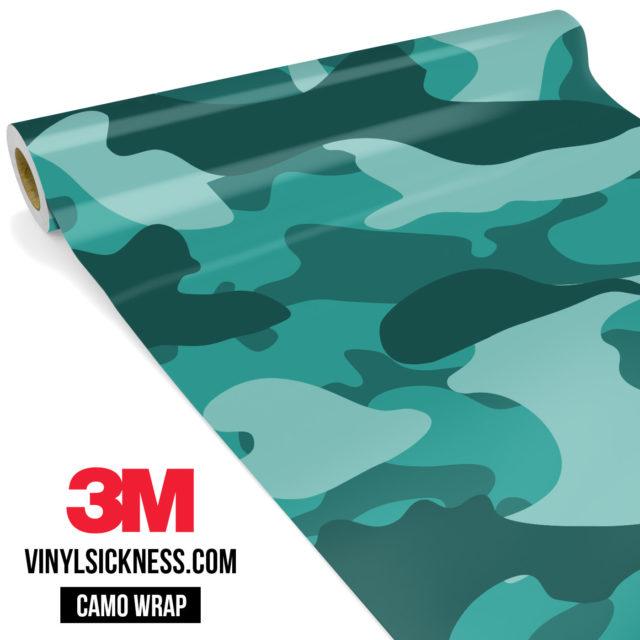 Viridian Mint Camo Large Vinyl Wrap Main