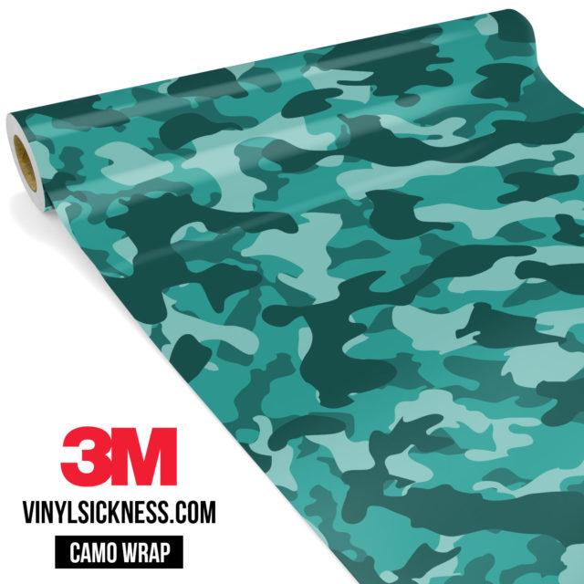 Viridian Mint Camo Regular Vinyl Wrap Main