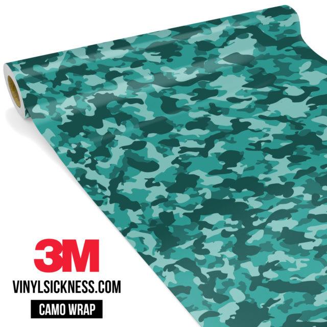 Viridian Mint Camo Small Vinyl Wrap Main