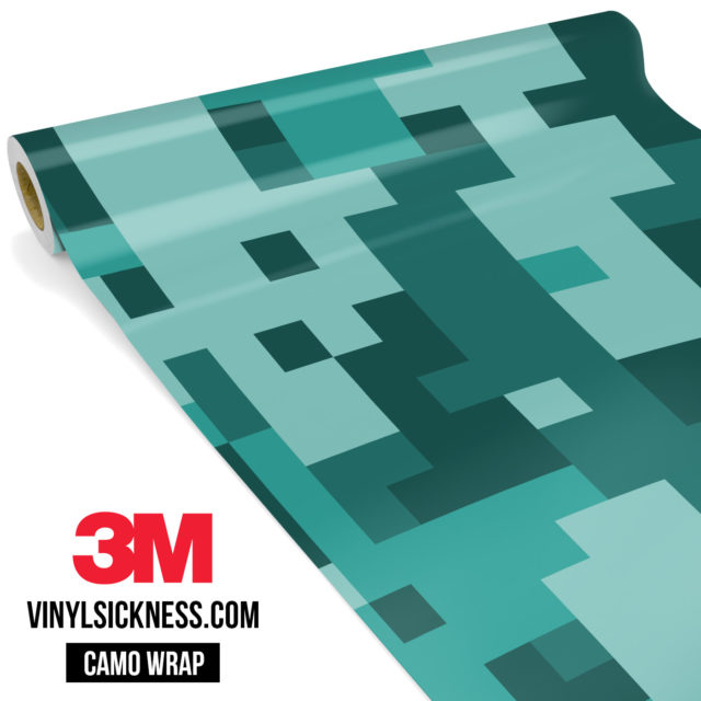 Viridian Mint Digital Camo Large Vinyl Wrap Main