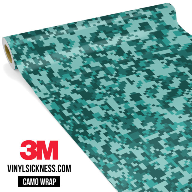 Viridian Mint Digital Camo Small Vinyl Wrap Main